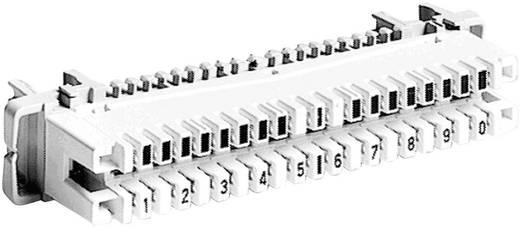 LSA-PLUS®-Leisten Baureihe 2 Trennleiste mit Farbcode 10 Doppeladern 6089 1 121-01 Weiß ADC Krone Inhalt: 1 S