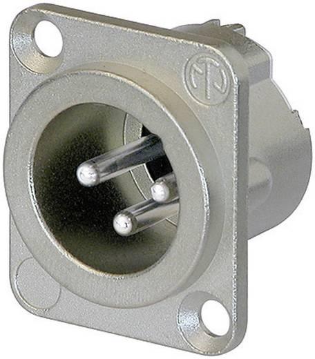 XLR-Steckverbinder Flanschstecker, Kontakte gerade Polzahl: 3 Silber Neutrik NC3MD-LX 1 St.