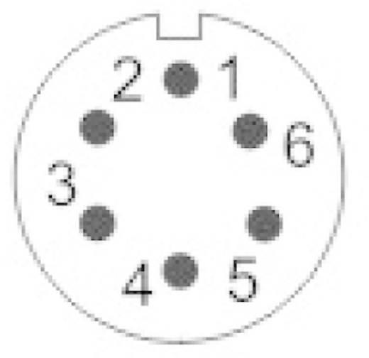 IP68-Steckverbinder Serie SP13 Pole: 6 In-Line-Buchse 5 A SP1311 / S 6 II Weipu 1 St.