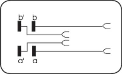 Cordoni di prova LSA-PLUS<sup>®</sup> Cordone di prova 2/4 con funzione di separazione 1 doppino 6624 2 340-09 Bianco AD