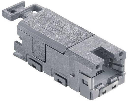 RJ45-Einbaubuchse Kupplung, gerade Pole: 8P8C 1401100810MI Grau Metz Connect 1401100810MI 1 St.