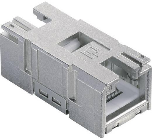 RJ45-Einbaukupplung Kupplung, gerade Pole: 8P8C 1401200810MI Grau Metz Connect 1401200810MI 1 St.