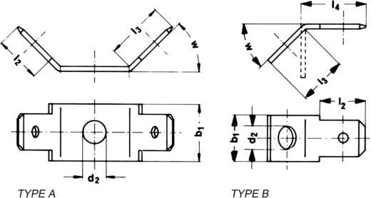 Steckzunge Steckbreite: 6.3 mm Steckdicke: 0.8 mm 45 ° Unisoliert Metall Klauke 2070 1 St.