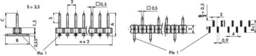 Stiftleiste SLY 7 SMD 045/ 20/Z Fischer Elektronik Inhalt: 1 St.