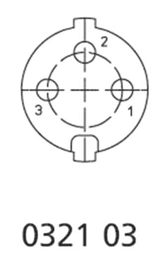 DIN-Rundsteckverbinder Stecker, gerade Polzahl: 3 Silber Lumberg 0332 03 1 St.