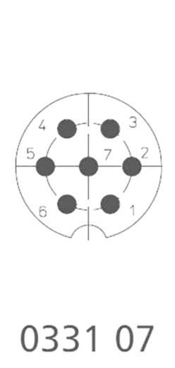 DIN-Rundsteckverbinder Stecker, gerade Polzahl: 7 Silber Lumberg 0332 07 1 St.