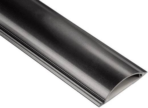 PVC-Kabelkanal, halbrund Passend für (Details): max. 8 Einzelkabel bis 17-mm-Einzel-Ø Schwarz Hama Inhalt: 1 St.
