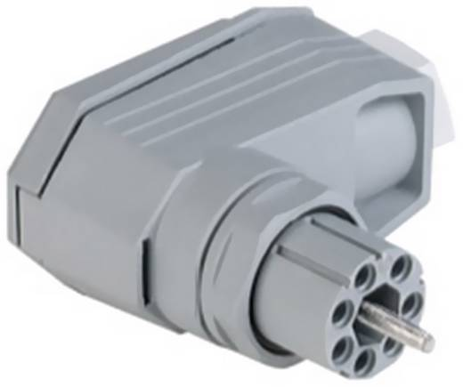 Netz-Steckverbinder N Serie (Netzsteckverbinder) N Buchse, gewinkelt Gesamtpolzahl: 11 + PE 5 A Grau Hirschmann N11R FF