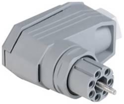 Úhlová síťová zásuvka Hirschmann N11R FF, 60 V, 5 A, šedá, 932 632-106