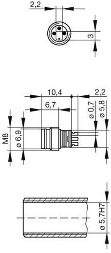 Sensor-/Aktor-Einbausteckverbinder M8 Stecker, Einbau Polzahl: 3 Hirschmann 933 392-001 ELST 3308 RV KH 1 St.