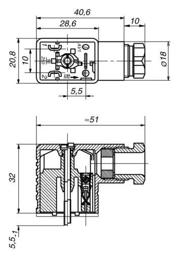 Leitungsdose, frei konfektionierbar Schwarz GMN 209 NJ Pole:2 + PE Hirschmann Inhalt: 1 St.