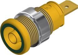 Douille banane de sécurité Ø de la broche: 4 mm SKS Hirschmann SEB 2620 F6,3 972356188 vert-jaune 1 pc(s)