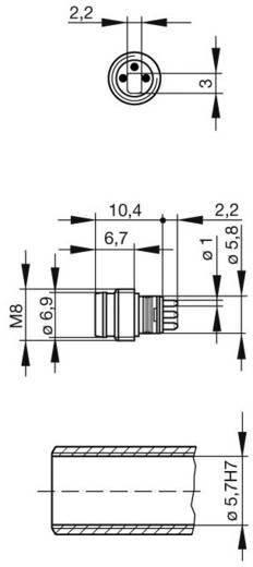 Sensor-/Aktor-Einbausteckverbinder M8 Stecker, Einbau Polzahl (RJ): 3 Hirschmann 933 391-001 ELST 3308 RV KM 1 St.