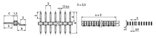 Stiftleiste (Standard) Anzahl Reihen: 1 Polzahl je Reihe: 20 Fischer Elektronik SLY 9 SMD 040/ 20/S 1 St.