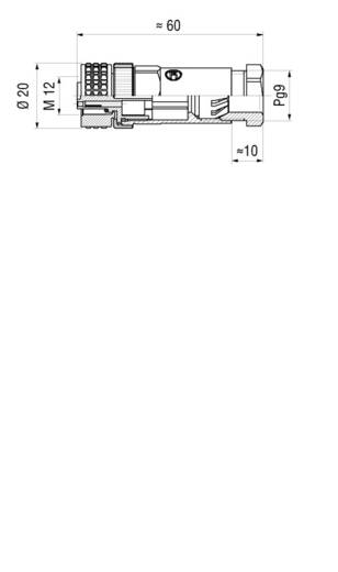 Sensor-/Aktor-Steckverbinder, unkonfektioniert M12 Buchse, gerade Polzahl: 4 Hirschmann 933 139-100 ELKA 4012 PG7 1 St.