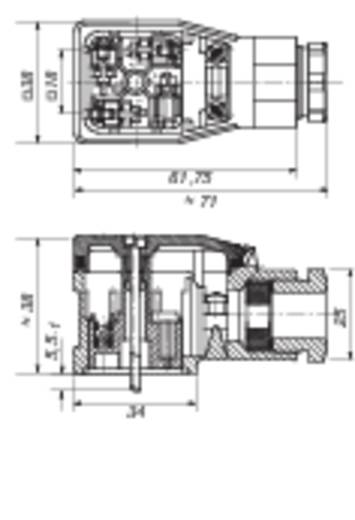 Leitungsdose, Elektronikeinsatz montierbar Schwarz GDME 2011 Pole:2 + PE Hirschmann Inhalt: 1 St.