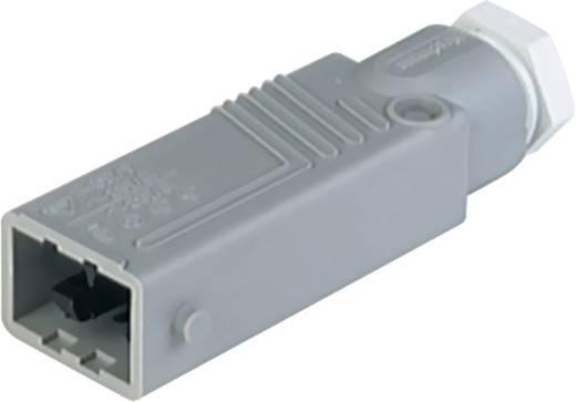 Netz-Steckverbinder STAS Serie (Netzsteckverbinder) STAS Stecker, gerade Gesamtpolzahl: 5 + PE 6 A Grau Hirschmann STAS
