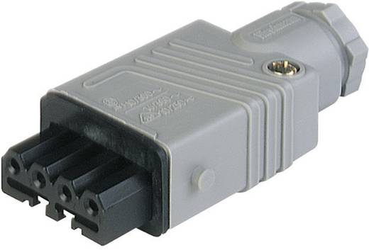Netz-Steckverbinder Serie (Netzsteckverbinder) STAK Buchse, gerade Gesamtpolzahl: 4 + PE 10 A Grau Hirschmann STAK 4 1