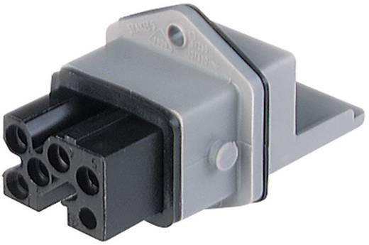 Netz-Steckverbinder Serie (Netzsteckverbinder) STAKEI Buchse, Einbau vertikal Gesamtpolzahl: 5 + PE 16 A Grau Hirschman