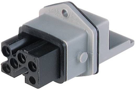 Netz-Steckverbinder STAKEI Serie (Netzsteckverbinder) STAKEI Buchse, Einbau vertikal Gesamtpolzahl: 5 + PE 16 A Grau Hir