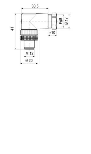 Leitungsdose und -stecker, konfektionierbar M12 ELWIKA 4012 PG7 Hirschmann Inhalt: 1 St.