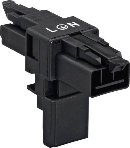 Netz-T-Verteiler Netz-Stecker - Netz-Buchse, Netz-Buchse Gesamtpolzahl: 2 + PE Schwarz WAGO 890-615 1 St.