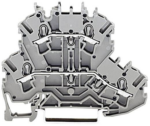 Doppelstock-Durchgangsklemme 5.20 mm Zugfeder Belegung: L, N Grau WAGO 2002-2203 1 St.