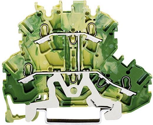 Doppelstock-Schutzleiterklemme 5.20 mm Zugfeder Belegung: PE Grün-Gelb WAGO 2002-2207 1 St.