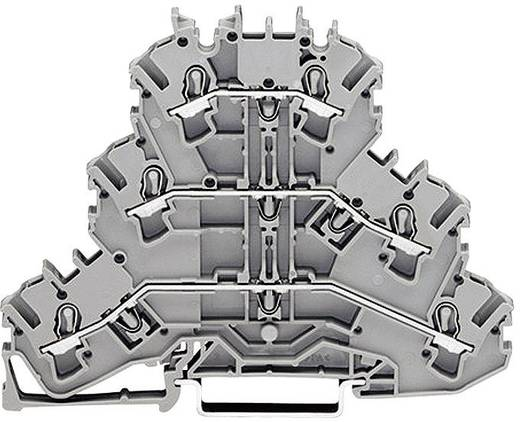 Dreistock-Durchgangsklemme 5.20 mm Zugfeder Belegung: L, L, N Grau WAGO 2002-3203 1 St.