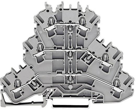 Dreistock-Durchgangsklemme 5.20 mm Zugfeder Belegung: PE, L, L Grau WAGO 2002-3227 1 St.