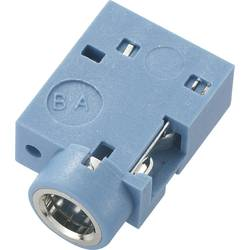 Jack konektor 3.5 mm stereo zásuvka, vstavateľná horizontálna TRU COMPONENTS 3, modrá, 1 ks