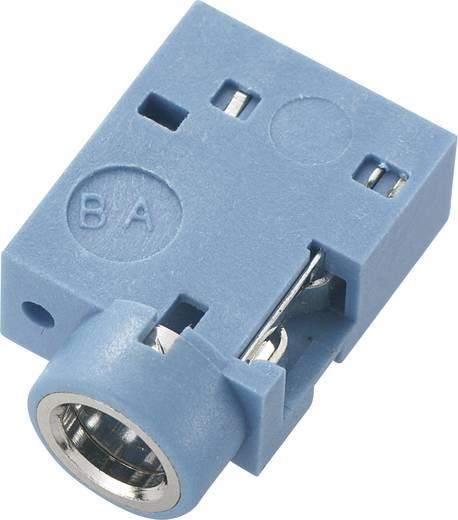 Klinken-Steckverbinder 3.5 mm Buchse, Einbau horizontal Polzahl: 3 Stereo Blau Conrad Components 1 St.