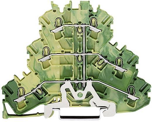 Dreistock-Durchgangsklemme 5.20 mm Zugfeder Belegung: PE Grün-Gelb WAGO 2002-3207 1 St.