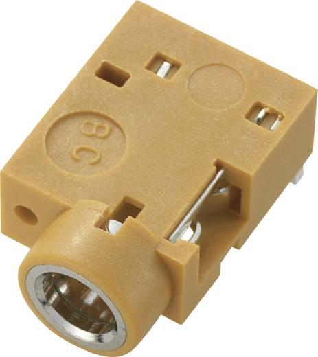 Klinken-Steckverbinder 3.5 mm Buchse, Einbau horizontal Polzahl: 3 Stereo Braun Conrad Components 1 St.