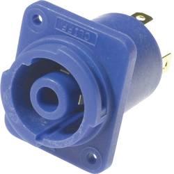Sieťový konektor Cliff FCR2068, zásuvka, vstavateľná vertikálna, počet kontaktov: 3 + PE, 20 A, 120 V/AC, modrá, 1 ks