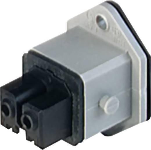 Netz-Steckverbinder STAKEI Serie (Netzsteckverbinder) STAKEI Buchse, Einbau vertikal Gesamtpolzahl: 2 + PE 16 A Grau Hir