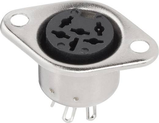 DIN-Rundsteckverbinder Flanschbuchse, Kontakte gerade Polzahl: 6 Silber BKL Electronic 0208094 1 St.