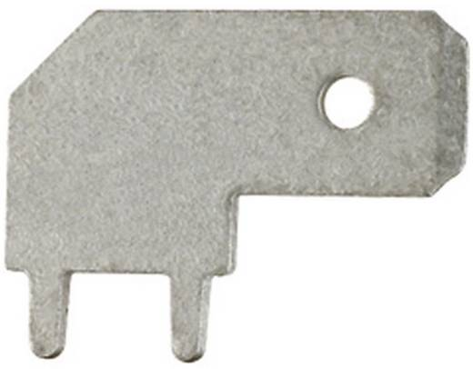 Steckzunge zum Einlöten in gedruckte Schaltungen Steckbreite: 6.3 mm Steckdicke: 0.8 mm 90 ° Unisoliert Metall Klauke 20