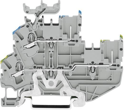Doppelstock-Basisklemme 5.20 mm Zugfeder Belegung: PE, L Grau WAGO 2022-2227 1 St.
