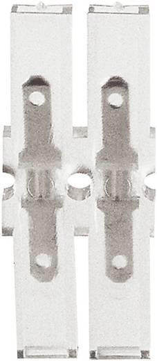 Steckzunge Steckbreite: 2.8 mm Steckdicke: 0.8 mm 180 ° Vollisoliert Transparent Klauke 8102 1 St.