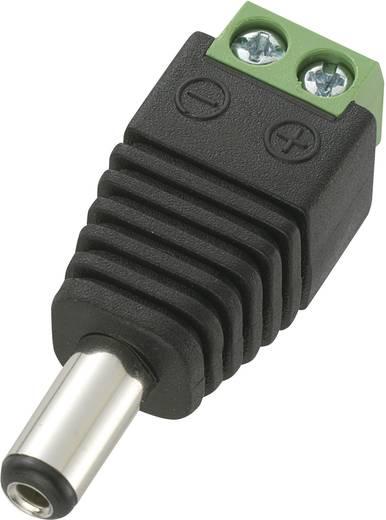 Niedervolt-Steckverbinder Stecker, gerade 5.5 mm 2.1 mm Conrad Components DC14-M 1 St.