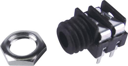 Klinken-Steckverbinder 3.5 mm Buchse, Einbau horizontal Polzahl: 2 Mono Schwarz Cliff FCR1281 1 St.