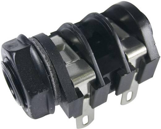 Klinken-Steckverbinder 6.35 mm Buchse, Einbau horizontal Polzahl: 2 Mono Schwarz Cliff CL1160A 1 St.