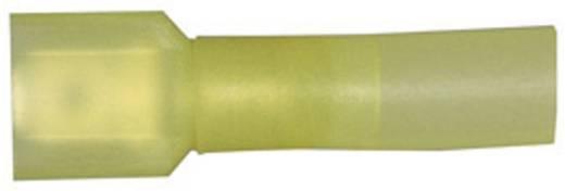 Flachstecker mit Schrumpfschlauch Steckbreite: 6.3 mm Steckdicke: 0.8 mm 180 ° Vollisoliert Gelb Vogt Verbindungstechnik