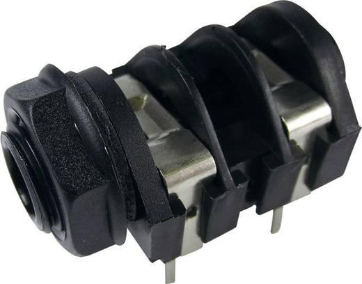 Klinken-Steckverbinder 6.35 mm Buchse, Einbau horizontal Polzahl: 2 Mono Schwarz Cliff CL1174A 1 St.