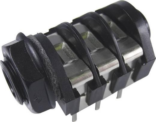 Klinken-Steckverbinder 6.35 mm Buchse, Einbau horizontal Polzahl: 3 Stereo Schwarz Cliff CL1232A 1 St.