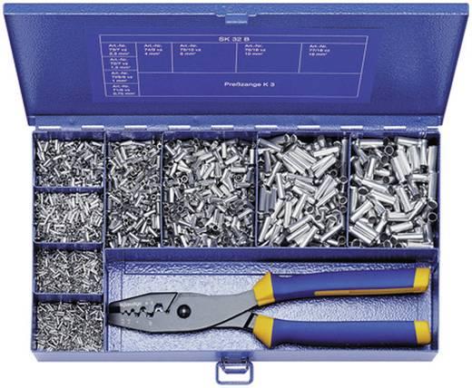 Aderendhülsen-Sortiment 0.5 mm² 16 mm² Metall Klauke SK32B 4900 St.