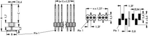 Stiftleisten in SMD-Technik RM 1,27 mm SLV W 1 SMD 048/ 20/G Fischer Elektronik Inhalt: 1 St.