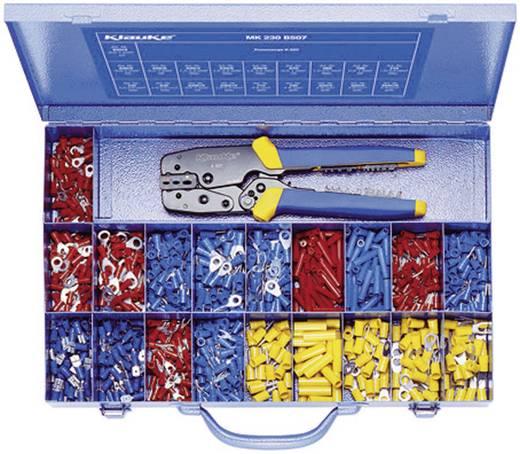 Quetschverbinder-Sortiment 0.5 mm² 6 mm² Rot, Blau, Gelb Klauke MK230B507 826 St.
