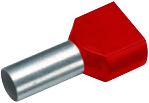 Zwillings-Aderendhülse 2 x 1 mm² x 8 mm Teilisoliert Rot Cimco 18 2466 100 St.
